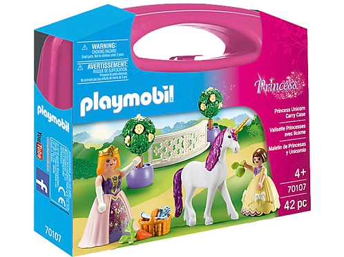 Princess and unicorn figure carry case playmobil