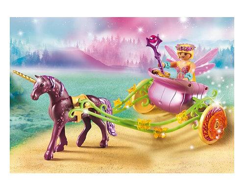 Playmobil unicorn carriage fairy toy