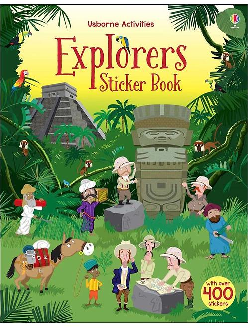 Explorers sticker book usborne for kids
