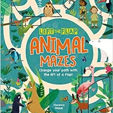 Lift the flap animal mazes book