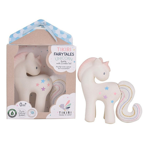 Tikiri baby natural rubber unicorn toy