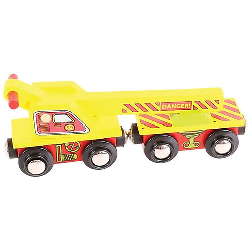 Bigjigs crane wagon toy