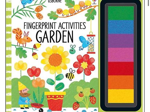 Garden fingerprint activity book usborne for kids