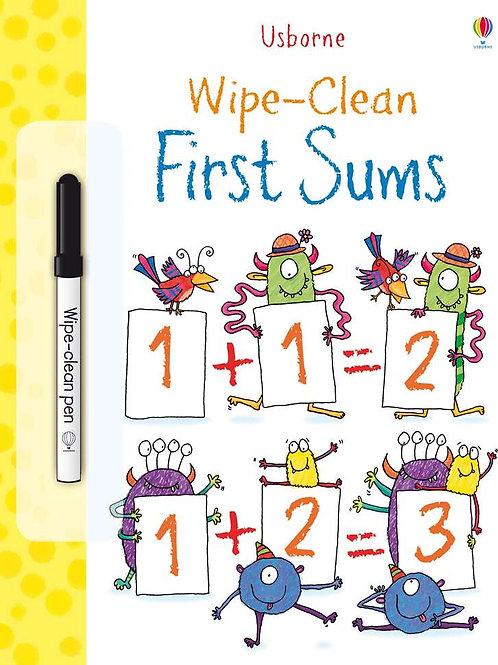 Usborne - Wipe & clean first sums