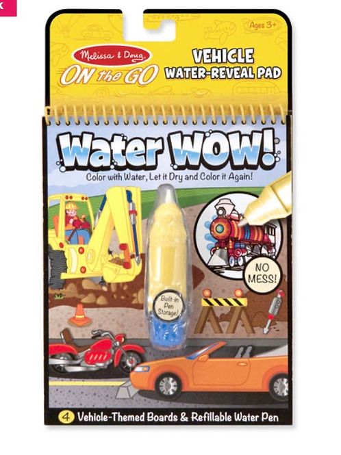 Vehicles water colouring book for kids melissa
