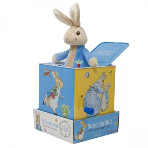 Peter rabbit jack in a box toy musical