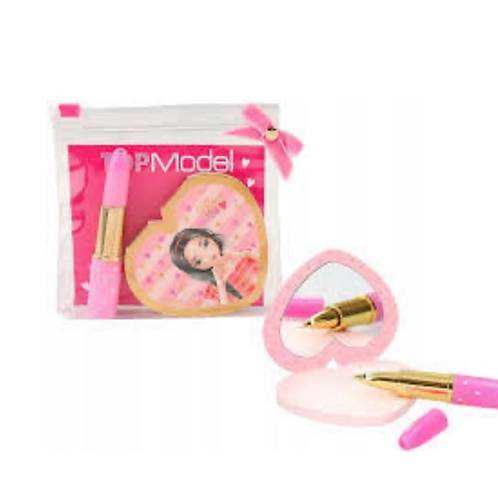 Top model lipstick and mirror stationery set