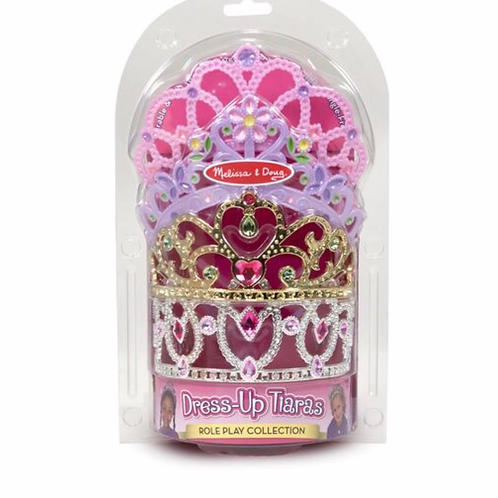 Plastic pretend play tiaras set