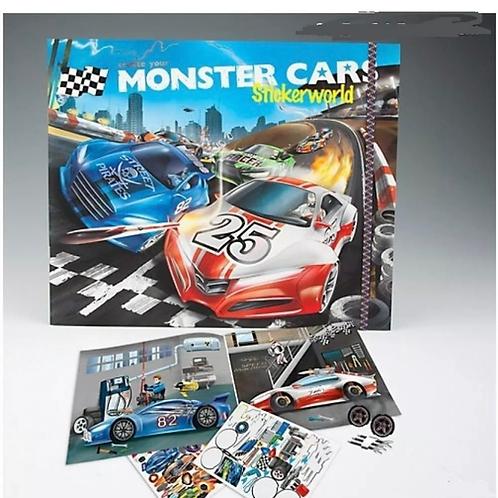 monster car sticker book depesche