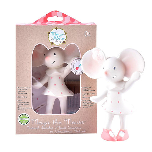 Tikiri baby natural rubber mouse squeaker toy