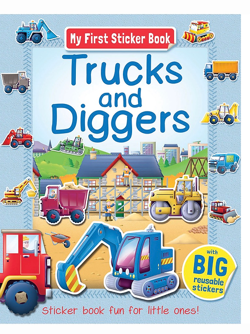 My first trucks and diggers sticker book