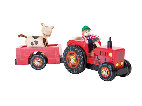 Small Foot Toys - Farmer tractor with trailer