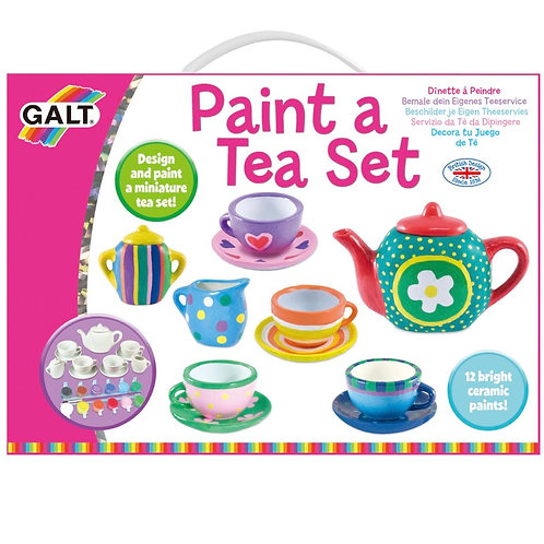 Paint a tea set kids set galt