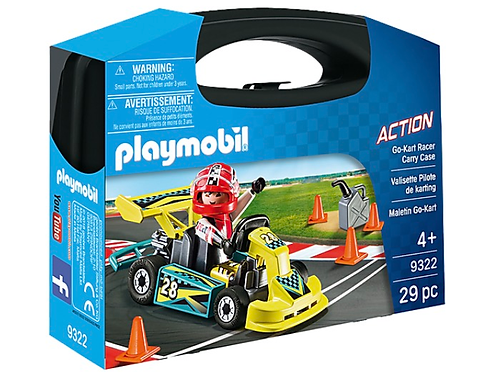 Go kart figure cary case playmobil