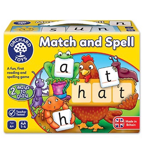 Match and spell yellow game orchard