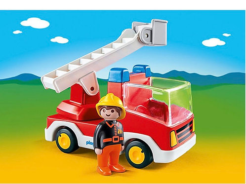 Playmobil fire truck toy figure for toddlers
