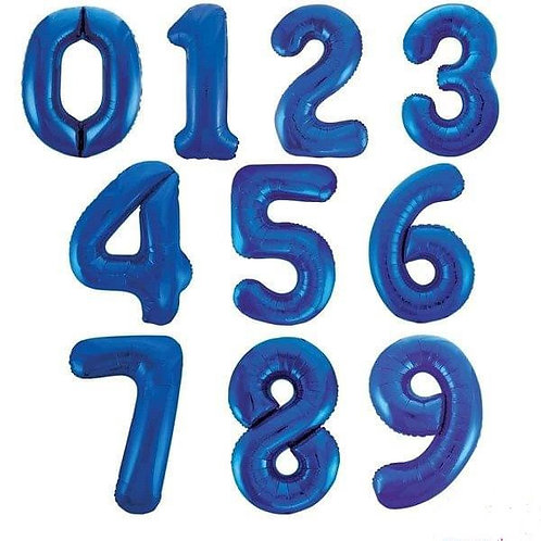 Balloons - Big Number Foil Balloon Blue