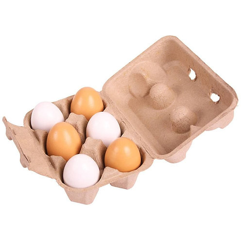 Bigjigs wooden food eggs