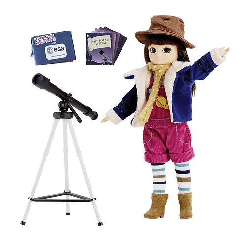 Lottie doll toy stargazer with telescope