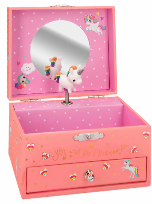 Unicorn music box pink depesche