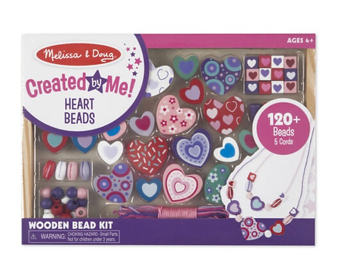 Wooden hearts beads kid set melissa