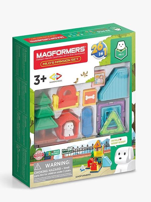 Magformers Milo magnetic shapes mansion