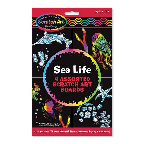 Melissa - Scratch Art draw and learn sea life