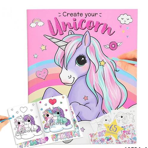 Unicorn sticker book depesche for girls