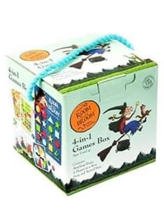 Book Characters and Toys - Room on The Broom 4 in 1 Games Box