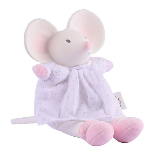 Tikiri natural rubber meiya mouse with dress toy