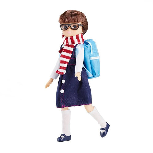 Lottie doll toy school with backpack