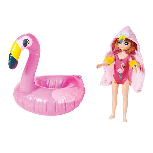 Lottie doll toy pool party outfit flamingo