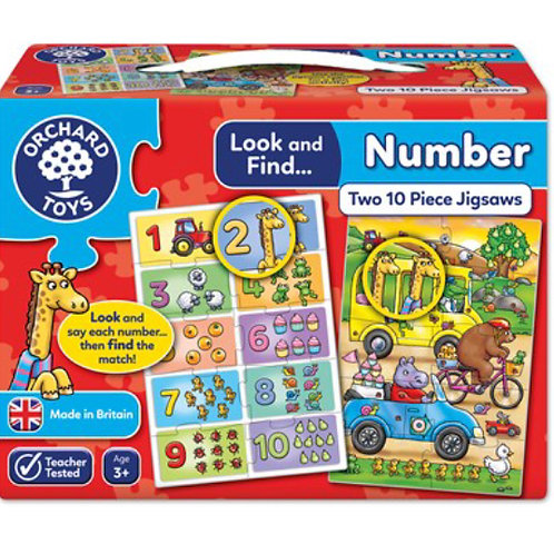 Orchard Jigsaw - Number look and find