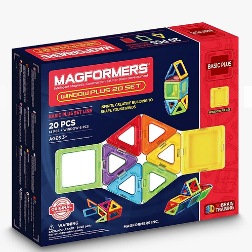 Magformers window 20 pieces magnetic shapes toy