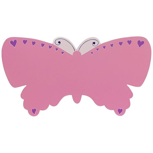 Lanka kade pink butterfly wooden name plaque