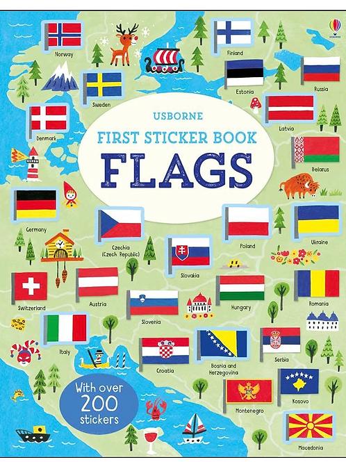 First flags sticker book usborne for kids