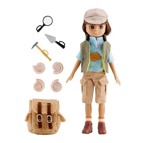 Lottie doll toy archaeologist fossil hunter