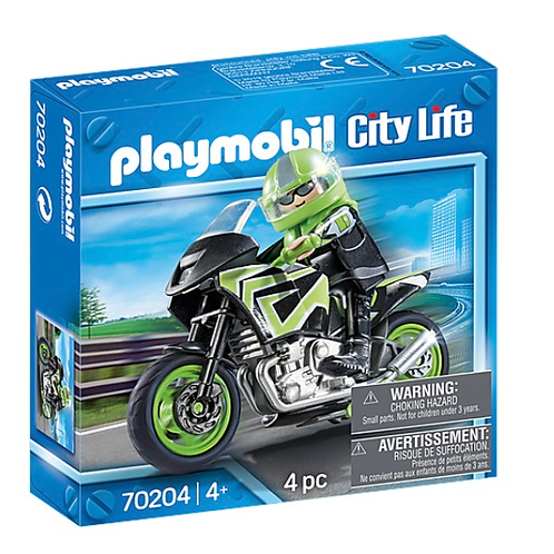 Playmobil motorcycle rider toy figure