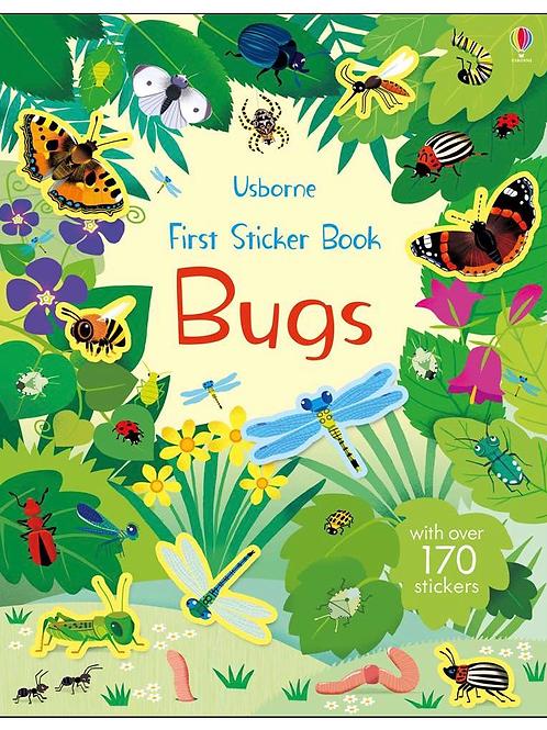 First bugs sticker book usborne for kids