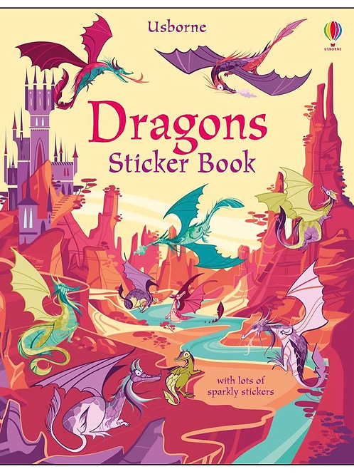 Dragons sticker book purple usborne for kids