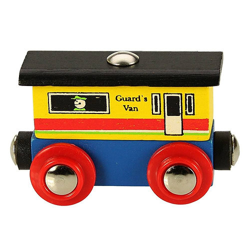 Bigjigs wooden little guards van toy train