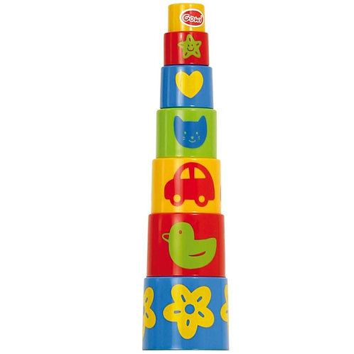 Bigjigs toy stacker round cups pyramid