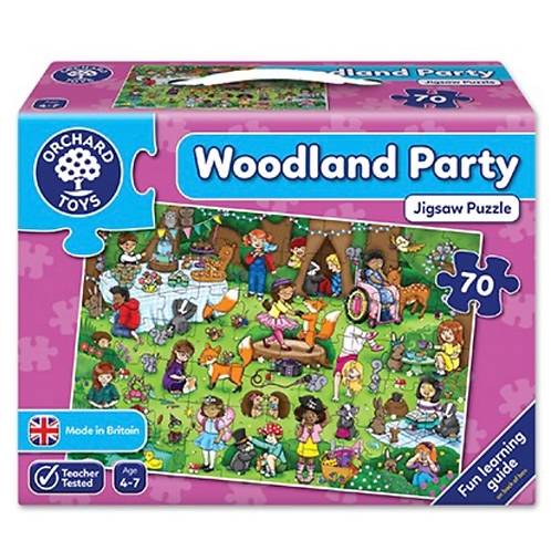 Woodland party purple jigsaw 70 piece orchard