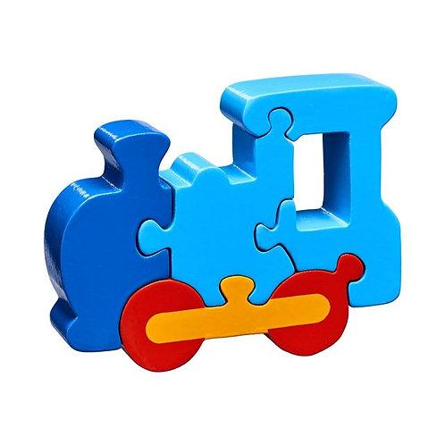 Lanka kade wooden jigsaw blue train