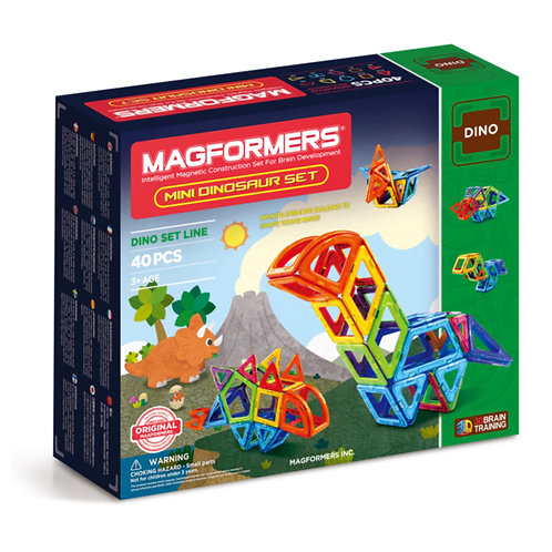 Magformers toy magnetic block dinosaur