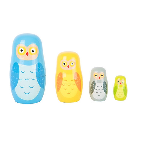 Small Foot Game - Owl family mtryoshka