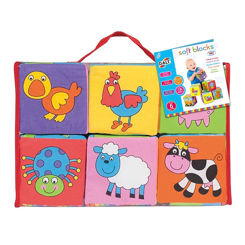 Animal soft block toys galt for babies