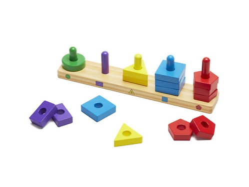 Wooden stack and sort board