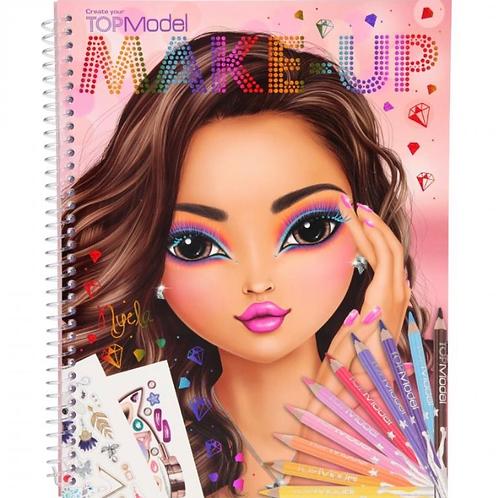 Top model makeup colouring book depesche for girls