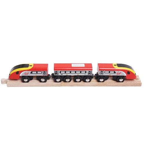 Bigjigs wooden virgin train toy